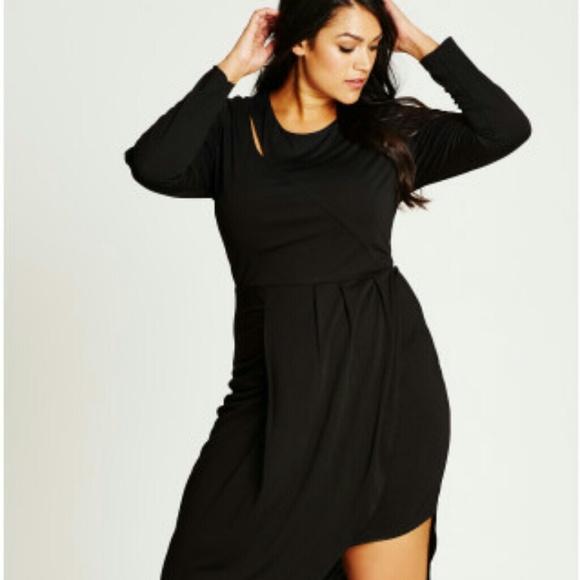 City Chic Dresses Long Sleeve Black Dress Poshmark